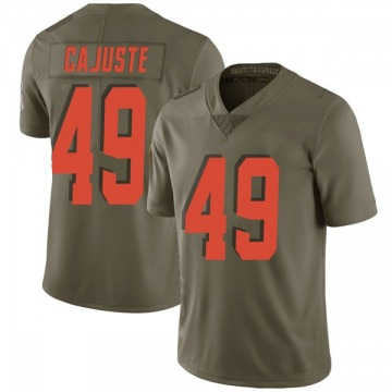 Men's Devon Cajuste Cleveland Browns Nike Limited 2017 Salute to Service Jersey - Green