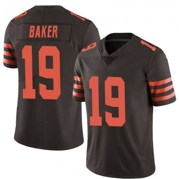 Men's Dorian Baker Cleveland Browns Nike Limited Color Rush Jersey - Brown