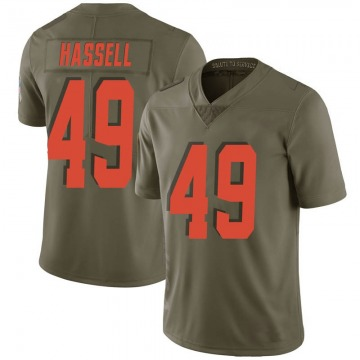 Men's J.T. Hassell Cleveland Browns Nike Limited 2017 Salute to Service Jersey - Green