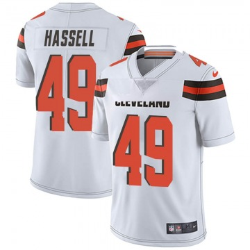 Men's J.T. Hassell Cleveland Browns Nike Limited Vapor Untouchable Jersey - White