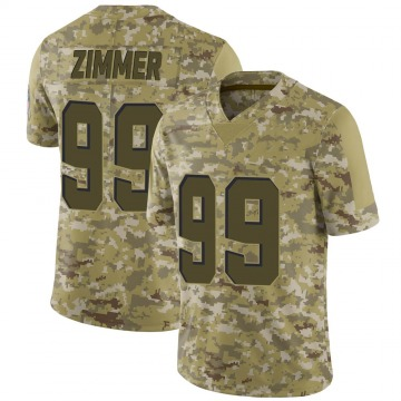 Men's Justin Zimmer Cleveland Browns Nike Limited 2018 Salute to Service Jersey - Camo
