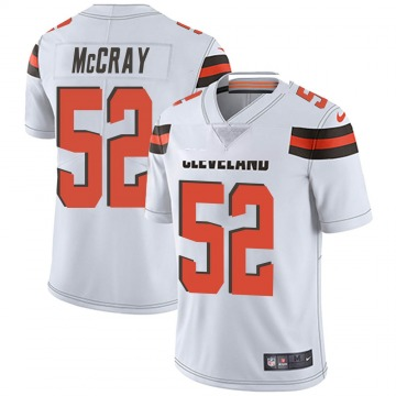 Men's Rob McCray Cleveland Browns Nike Limited Vapor Untouchable Jersey - White