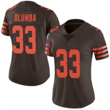 Women's Donovan Olumba Cleveland Browns Nike Limited Color Rush Jersey - Brown