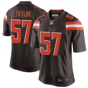 Youth Adarius Taylor Cleveland Browns Nike Game Team Color Jersey - Brown