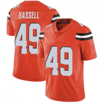 Youth J.T. Hassell Cleveland Browns Nike Limited Alternate Vapor Untouchable Jersey - Orange